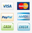 We accept multiple forms of payment for your convenience